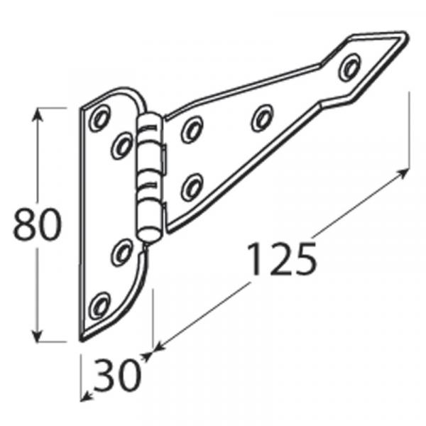 ZAT 125 Závěs trojúhelníkový 125x1,6 1