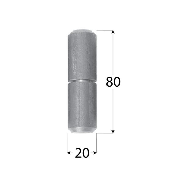 ZTK 20 Závěs k přivaření s kuličkou 20x80 1