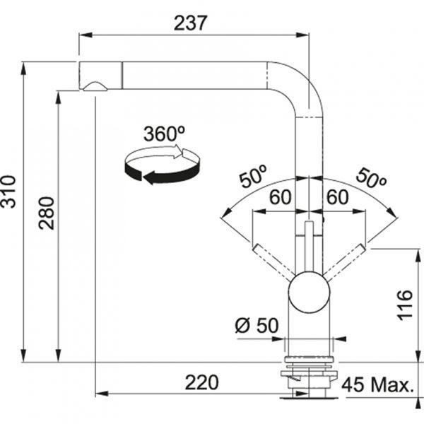 Baterie FN 6100.084 šedý kámen/chrom 2