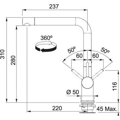 Baterie FN 6100.070 tmavě hnědá/chrom