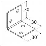 KSO 1 - úhelník široký (zinc coated) 30x30x30x1,5 mm 3