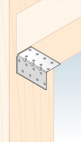 KMP 3 - úhelník montážní s prolisem 40x40x80x1,5 mm 2