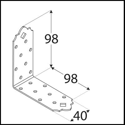SDSKM 7  Úhelník C 98x98x40x2,0
