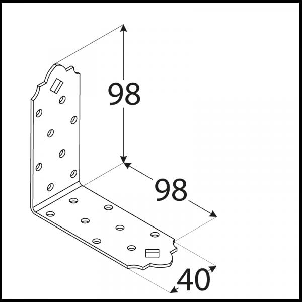 SDSKM 7 Úhelník C 98x98x40x2,0 2
