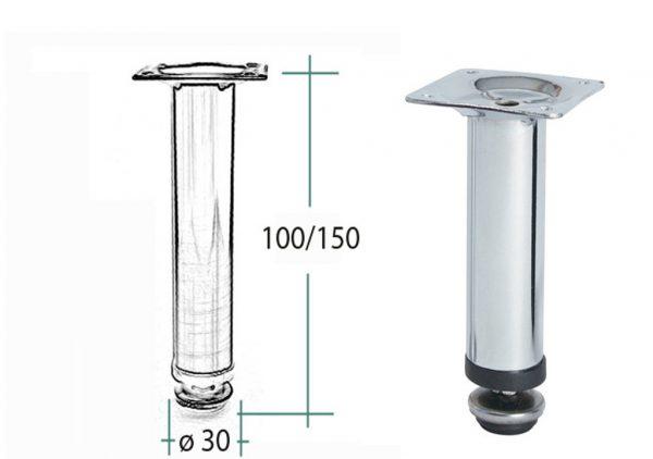 Nozka kov 17.V15B.315.10 150*30mm chrom 1