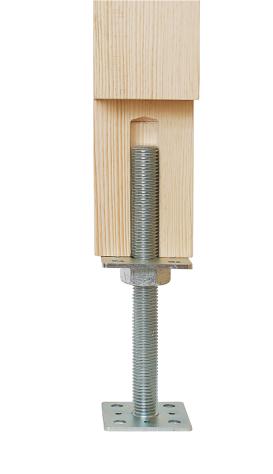 PSR 100 (10*250) Patka sloupku stavitelná šroubem d24