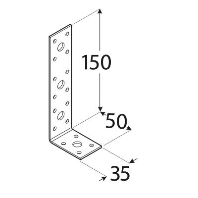 KL3 – úhelník spojovací 150x50x35x2,5  mm