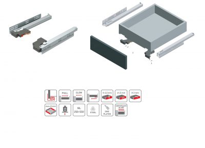 Modern slide 3D 400mm PB-3DSLIDE-400 AKCE