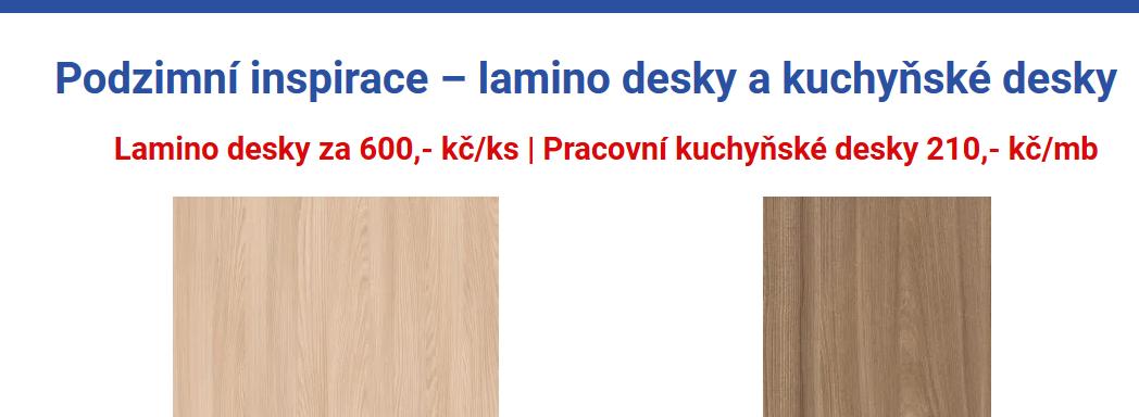 Podzimní inspirace - lamino desky a kuchyňské desky