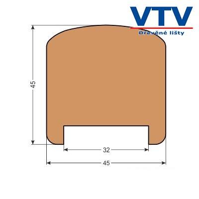 Madlo dřevěné MD 4545   2,5m  c.85