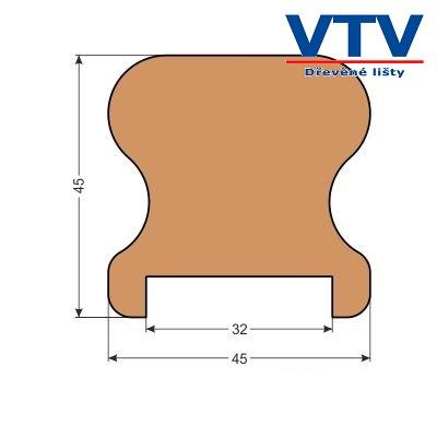 Madlo dřevěné MS 4545   2,5m  c.88
