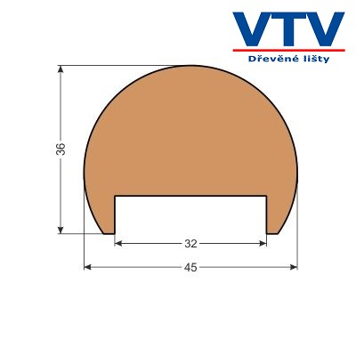 Madlo dřevěné MT 4536D   2,5m  c.90