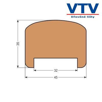 Madlo dřevěné MD 4535   2,5m  c.86